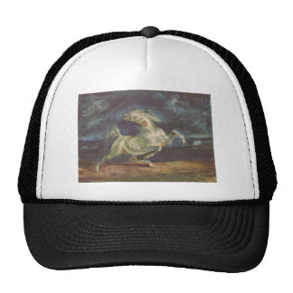 Horse Frightened by a Storm by Eugene Delacroix Trucker Hat