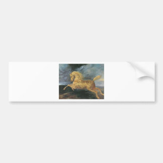 Horse frightened by lightning by Theodore Gericaul Bumper Sticker