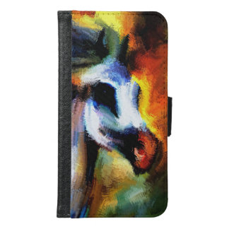 Horse from Abstract Wallet Phone Case For Samsung Galaxy S6