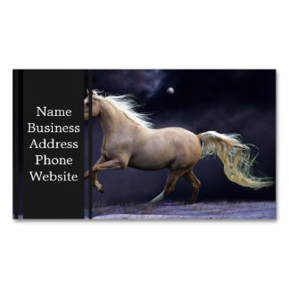 horse galloping business card magnet