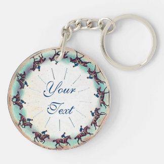 Horse Galloping Double-Sided Round Acrylic Keychain
