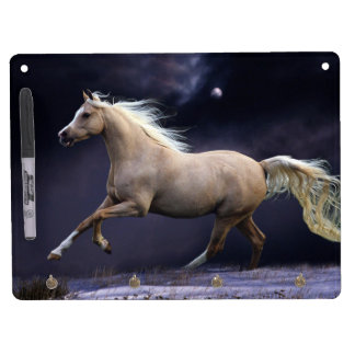 horse galloping dry erase board with keychain holder