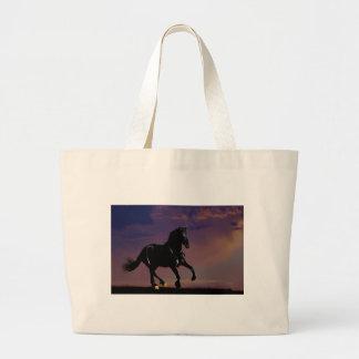 Horse galloping free jumbo tote bag