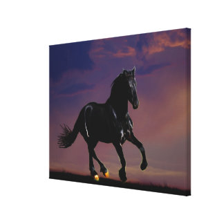 Horse galloping free canvas print