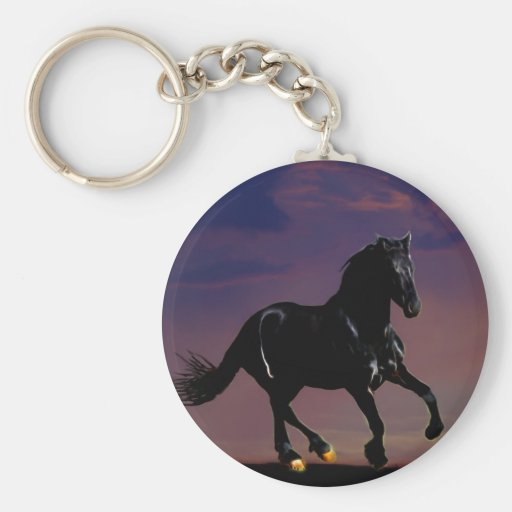 Horse galloping free keychain