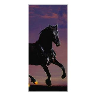 Horse galloping free rack card