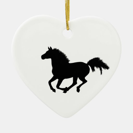 Horse galloping heart ornament, gift idea