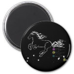 Horse galloping left (wb) [magnet]
