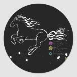 Horse galloping left (wb) [sticker]