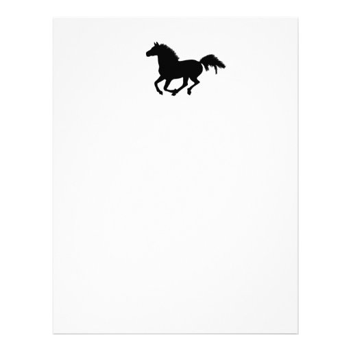 Horse galloping letterhead / notepaper