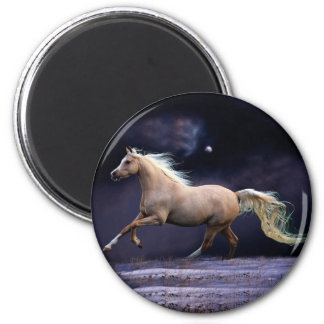 horse galloping 2 inch round magnet