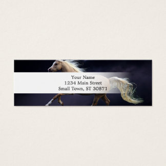 horse galloping mini business card