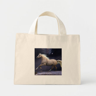 horse galloping mini tote bag