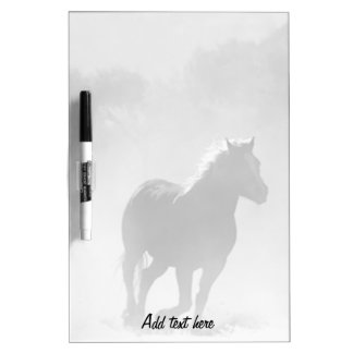 Horse Galloping Out of the Mist Dry-Erase Board