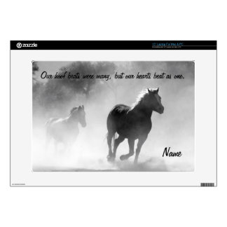 Horse Galloping Out of the Mist Laptop Skins