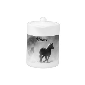 Horse Galloping Out of the Mist Teapot