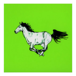 Horse Galloping Poster