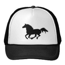 Horse galloping silhouette hat, gift idea trucker hat