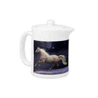 horse galloping teapot