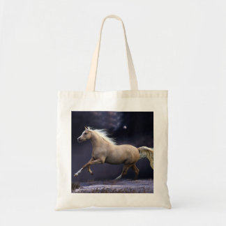 horse galloping tote bag