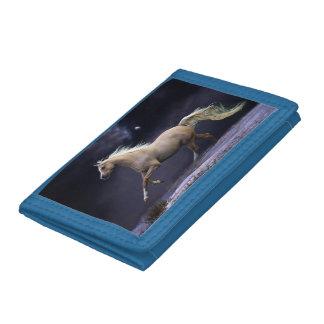 horse galloping tri-fold wallet