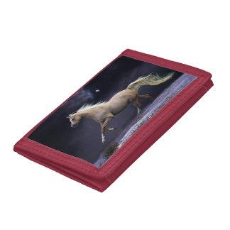 horse galloping tri-fold wallets
