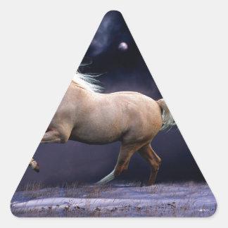 horse galloping triangle sticker