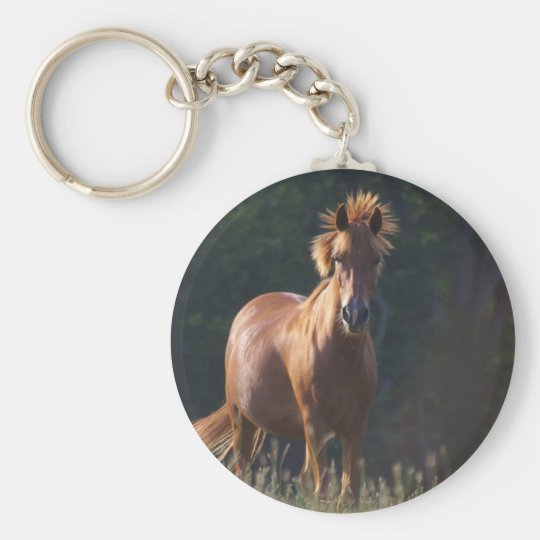 Horse Gazing At You Keychain