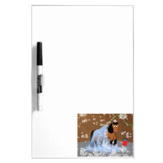 Horse Getting a Bath.tif Dry-Erase Board