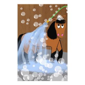 Horse Getting a Bath.tif Stationery