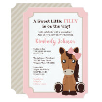 Horse Girl Baby Shower Invitation