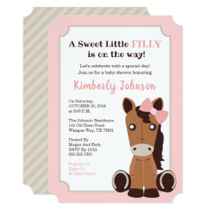 Cowgirl Baby Shower Invitations Zazzle