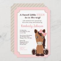 Horse Girl Baby Shower Invitation