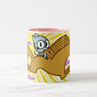 Horse GIves Kitty a RIde Two-Tone Coffee Mug
