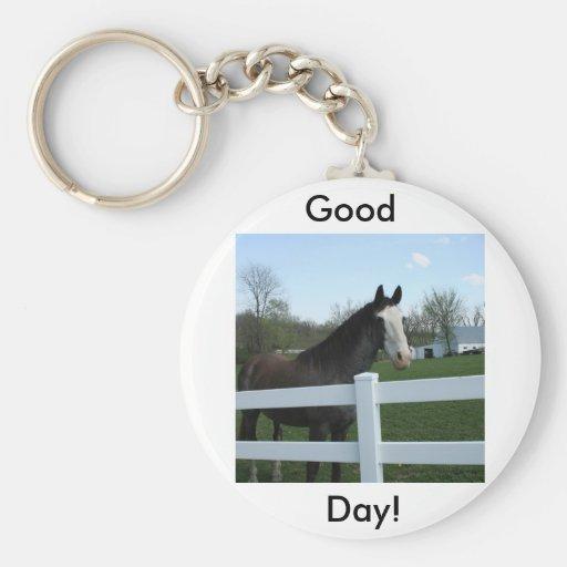 Horse, Good Morning! Key Chains