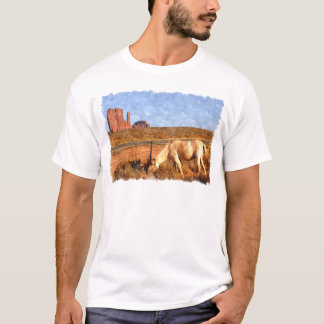 Horse grazing in Monument Valley T-Shirt