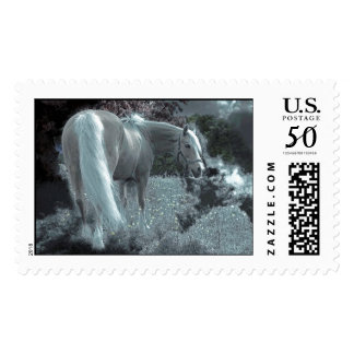 Horse Grazing in the Moonlight Postage