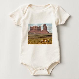 Horse Grazing, Monument Valley, UT Baby Bodysuit