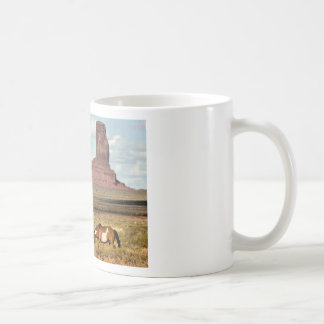 Horse Grazing, Monument Valley, UT Coffee Mug