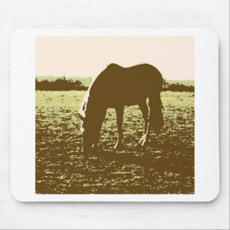 Horse Grazing Pop Art Mouse Pad