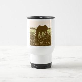 Horse Grazing Pop Art 15 Oz Stainless Steel Travel Mug