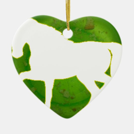 HORSE GREEN BACKGROUND PRODUCTS CERAMIC ORNAMENT