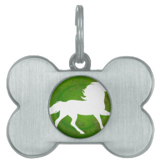 HORSE GREEN BACKGROUND PRODUCTS PET NAME TAGS