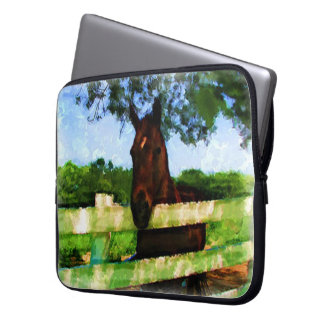 Horse Greeting Laptop Sleeve