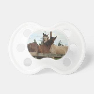 Horse Grooming Baby Pacifiers