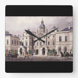 Horse Guards, Parliament Street_Engravings Square Wall Clock