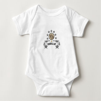 horse guns and marshal law baby bodysuit