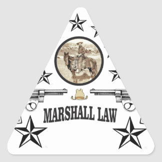 horse guns and marshal law triangle sticker