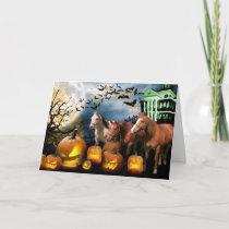 Horse Halloween Greeting Card