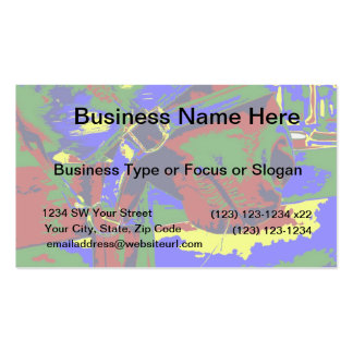 Horse halter muzzle hay grass red blue graphic business card